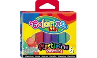Plastilina glitter 6/set